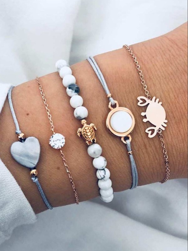 Personality Alloy With Animals Hot Sale Bracelets(5 Pieces)