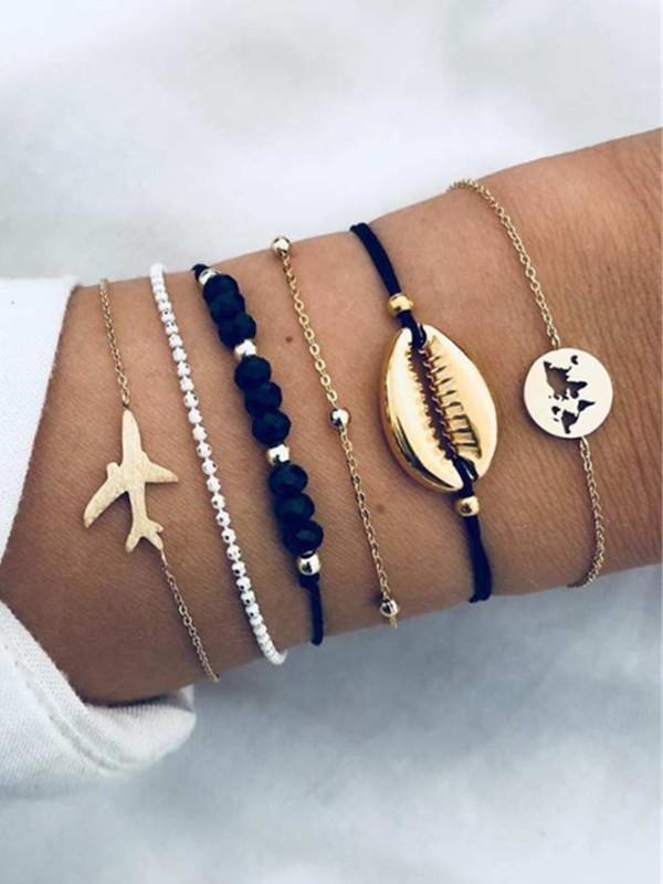 Excellent Alloy With Ornament Hot Sale Bracelets(6 Pieces)