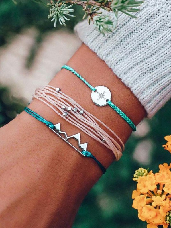 Sweet Alloy With Ornament Hot Sale Bracelets(3 Pieces)