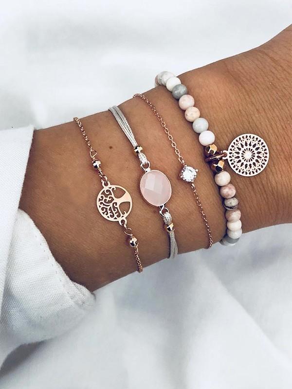 Elegant Alloy With Ornament Hot Sale Bracelets(4 Pieces)