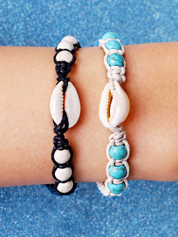 Simple Alloy With Shell Hot Sale Bracelets
