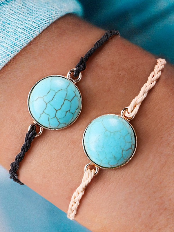 Personality Alloy With Stone Hot Sale Bracelets