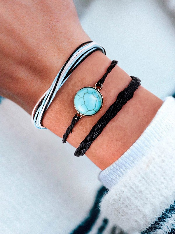 Dreamlike Alloy With Stone Hot Sale Bracelets(3 Pieces)