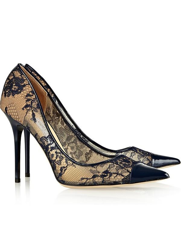 The Most Trendy Women's Net Satin Closed Toe Stiletto Heel High Heels