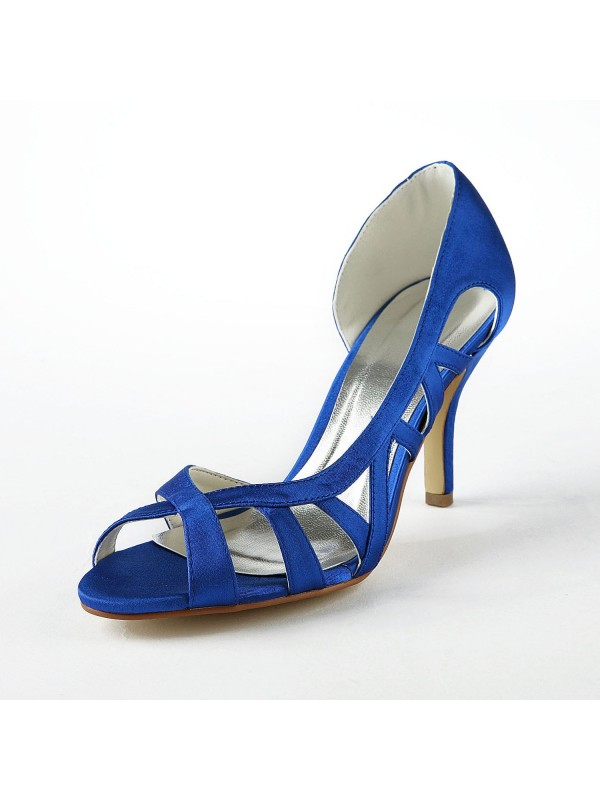 The Most Trendy Women's Satin Upper Stiletto Heel High Heels Sandals Shoes