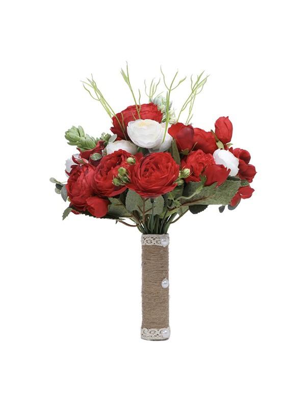Gorgeous Free-Form Silk Flower Bridal Bouquets