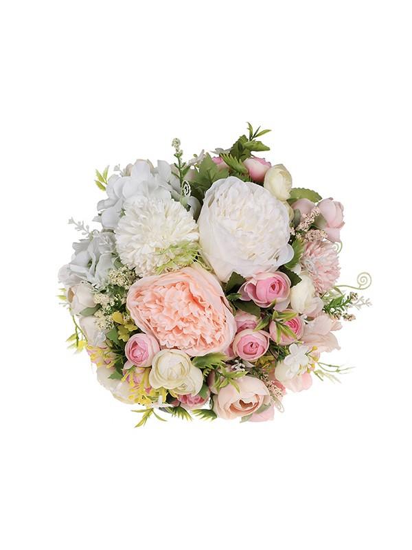 Elegant Round Plastic Bridal Bouquets