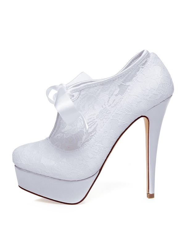 The Most Fashionable Women's Satin Closed Toe Silk Stiletto Heel Wedding Shoes
