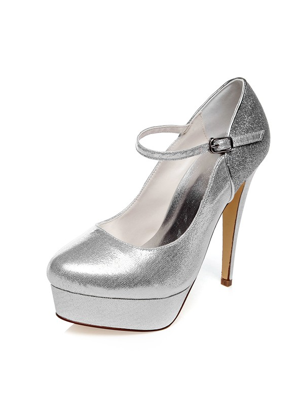 The Most Fashionable Women's PU Closed Toe Buckle Stiletto Heel Wedding Shoes
