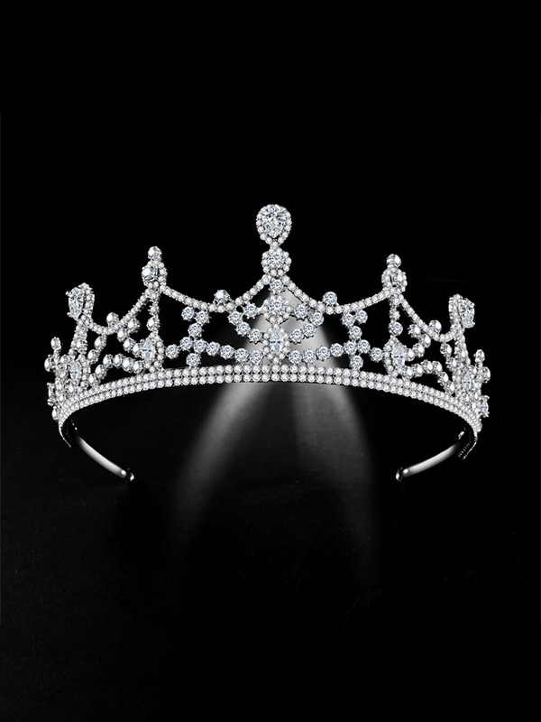 Stunning Alloy Bridal With Rhinestone Headpieces