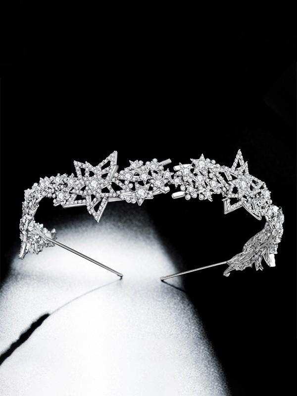 Fashion Alloy Bridal With Rhinestone Headpieces
