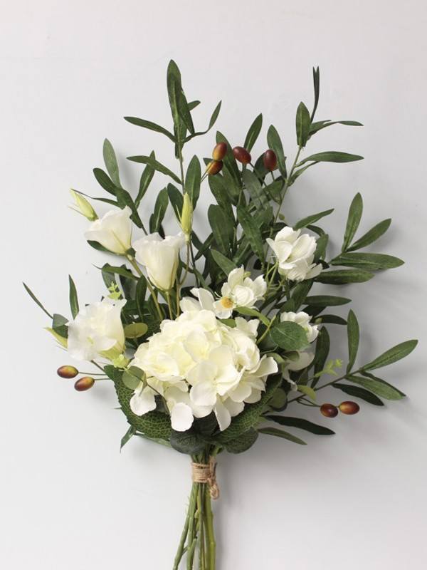 Pure Free-Form Silk Flower Bridal Bouquets