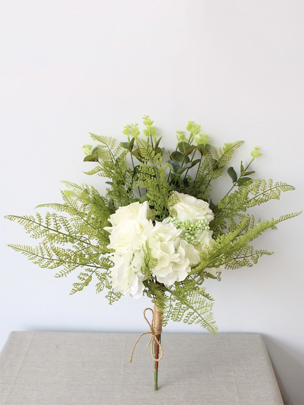 Cute Free-Form Silk Flower Bridal Bouquets