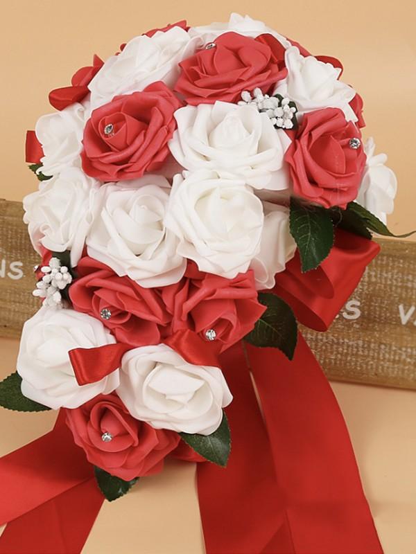 Fascinating Cascade Foam Bridal Bouquets