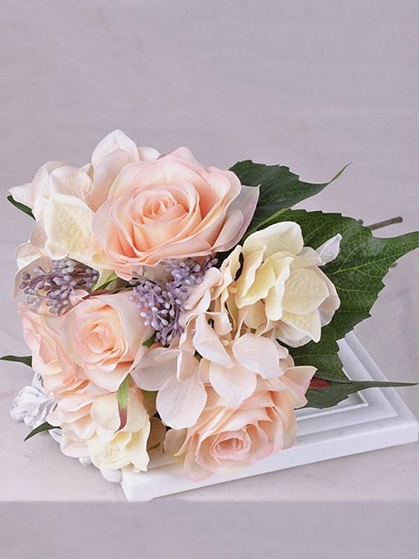 Nice Free-Form Silk Flower Bridal Bouquets