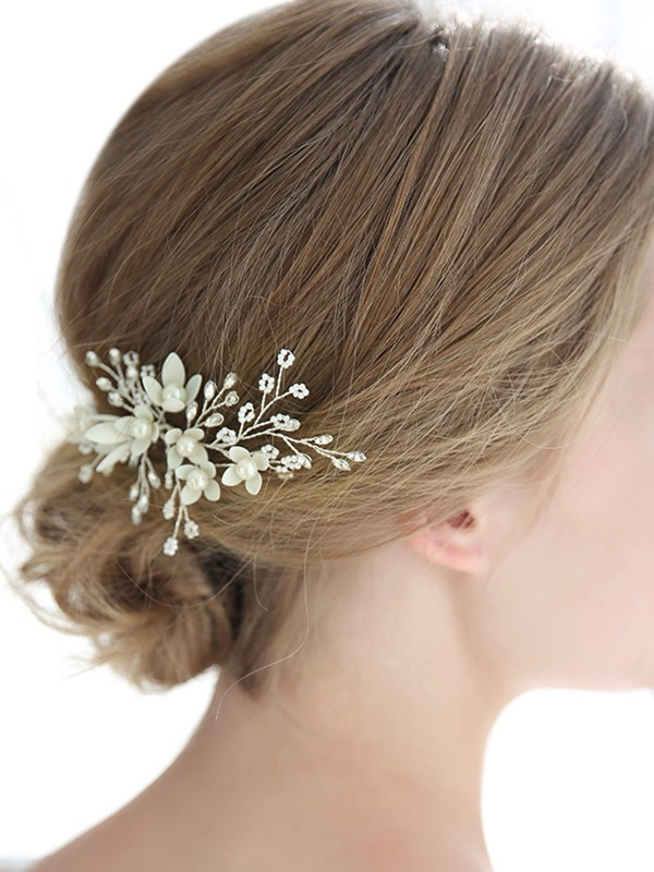 Pretty Alloy With Crystal/Imitation Pearl Headpieces