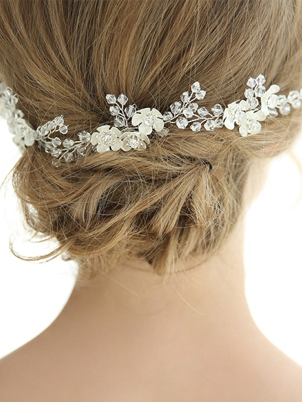 Amazing Alloy With Crystal Headpieces