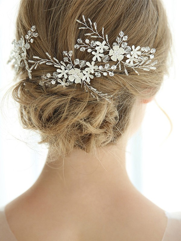 Stunning Alloy With Crystal Headpieces