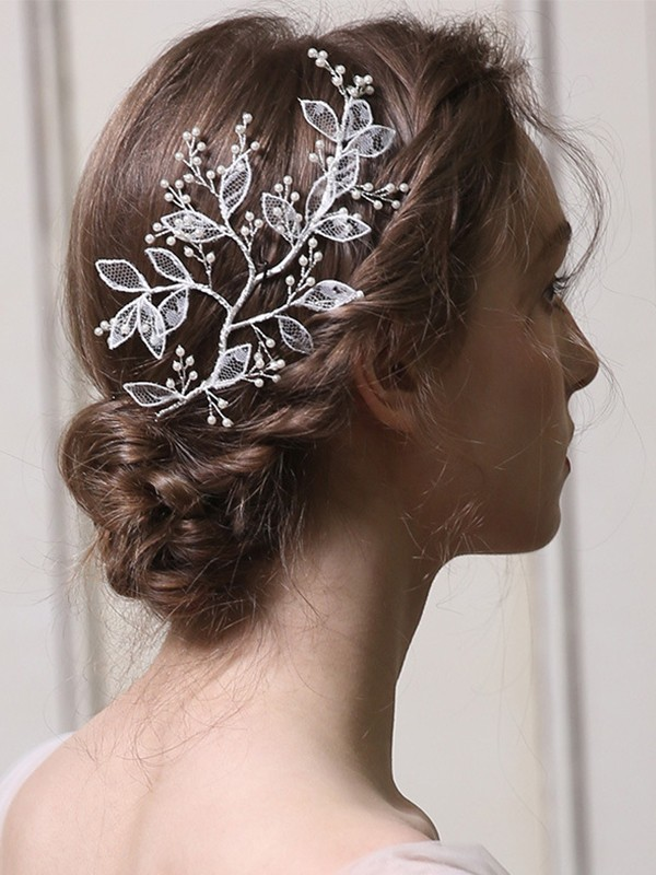 Sweet Alloy With Imitation Pearl Headpieces