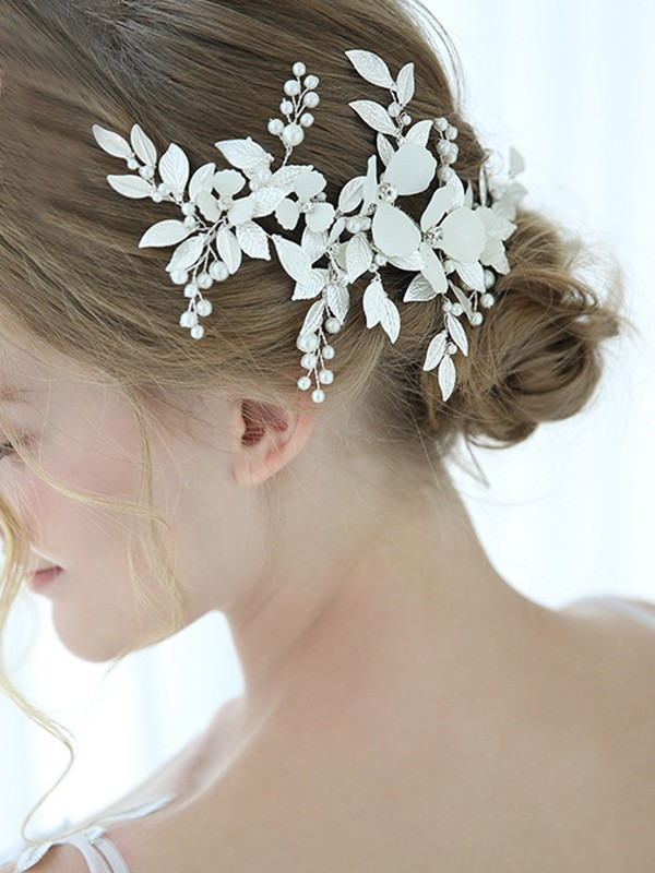 Fashion Alloy With Imitation Pearl Headpieces