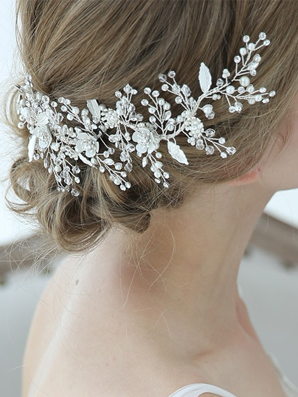 Bright Alloy With Crystal/Imitation Pearl Headpieces