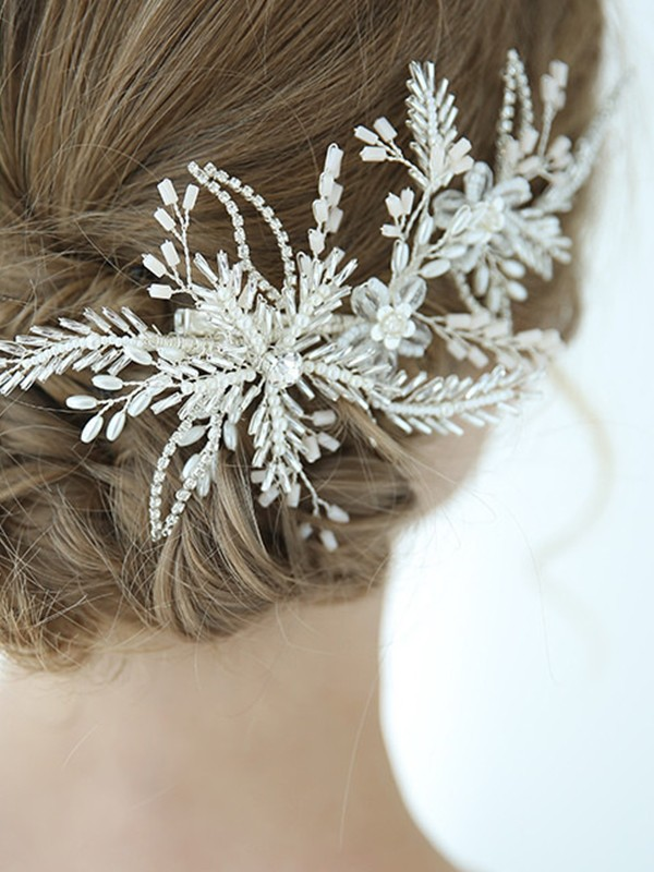 Luxurious Alloy With Crystal Headpieces