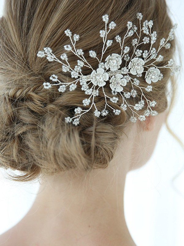 Perfect Alloy With Crystal Headpieces