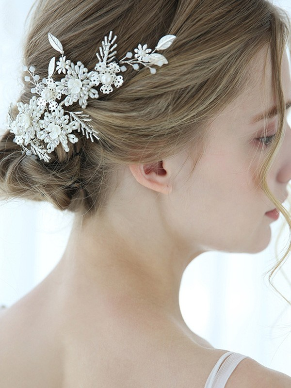 Splendid Alloy With Pearl Headpieces
