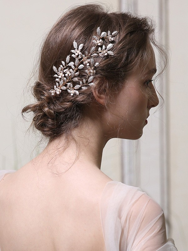 Nice With Pearl Alloy Headpieces