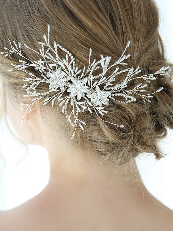 Charming Alloy With Crystal Headpieces
