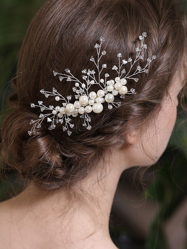 Chic Alloy With Crystal/Imitation Pearl Headpieces