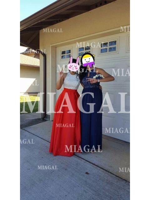 59f0ebaad4a Floor-Length Ball Gown Jewel Sleeveless Crystal Satin Dresses - Miagal